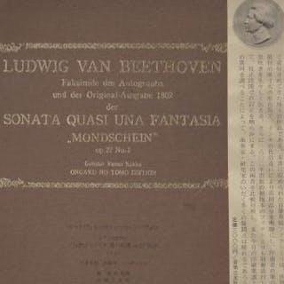 """Faksimile-Ausgabe des Autographs der Sonata Quasi Una Fantasia """"Mondschein"""" op"""