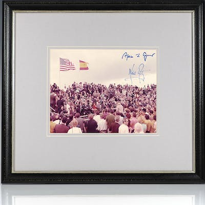 Neil Armstrong and Spiro Agnew Apollo 14 Mission Launch Signed Photograph