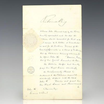 Queen Victoria License to Plead Grant Signed | Barnebys