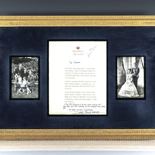 Princess Grace and Prince Rainier Signed Letter and Photographs