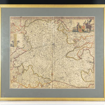 Rare Frederik de Wit Map of France and Central Europe