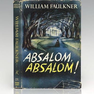 Absalom, Absalom! Faulkner, William First Edition