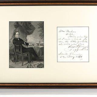 Jefferson Davis Autograph Letter Signed. Davis, Jefferson Americana
