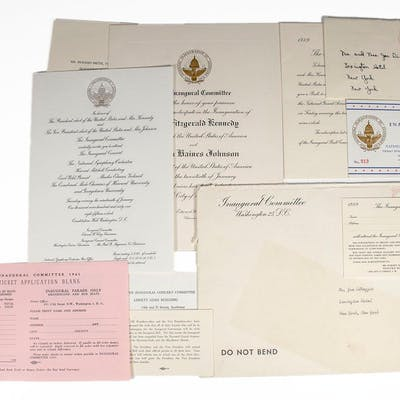 John F. Kennedy Inaugural Invitations. Kennedy, John F. (Joe DiMaggio) Americana