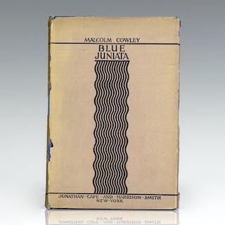 Blue Juniata: Poems. Cowley, Malcolm First Edition