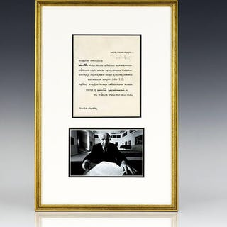 David Ben-Gurion Signed Document Honoring the Loss of an Israeli Soldier