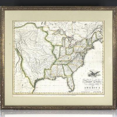 1818 John Melish Map of the United States of America
