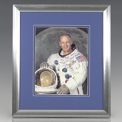 Buzz Aldrin Signed Photograph. Aldrin, Buzz First Edition