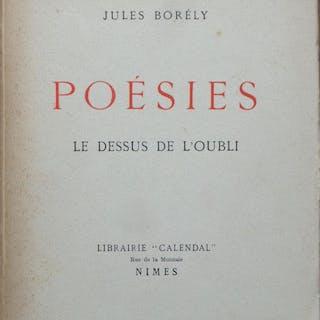 Poésies Le dessus de l'oubli Jules BORÉLY Poesie