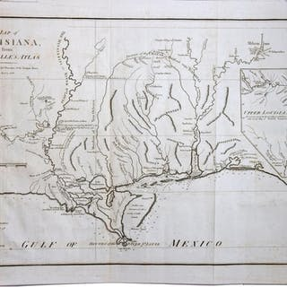 Current Map Of Louisiana.Map Of Louisiana From D Anville S Atlas Map Harrison John E