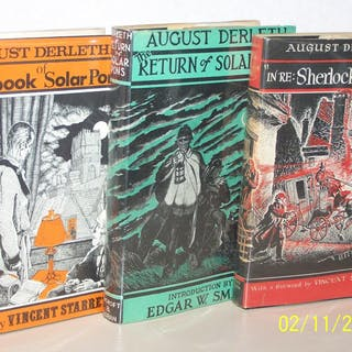 Three Volumes Of the Adventures of Solar Pons August Derleth