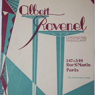 Albert Ravenel. Fabrique d'Etalages & Vitrines.   Trades and Trade Catalogs