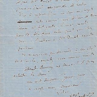Lettre autographe signée FLAUBERT Gustave