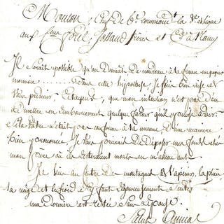Lettre autographe signée MOUTON Georges