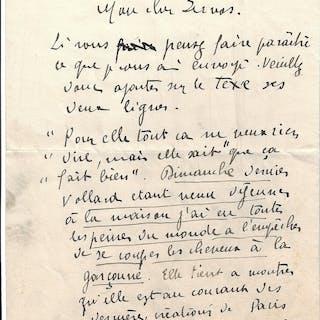 Lettre autographe signée VLAMINCK Maurice de
