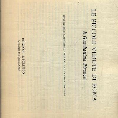 Le piccole vedute di Roma Piranesi, Giambattista Literature & Fiction