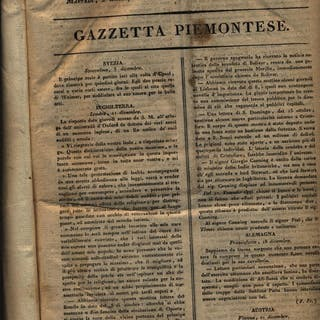 Gazzetta piemontese 1821 aa.vv. Literature & Fiction