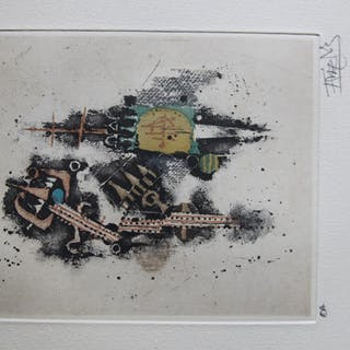 farb-lithografie komposition