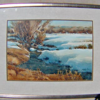 """Orig. W/C """"Spring Runoff"""" BY SPIKE RESS; Listed Artist"""