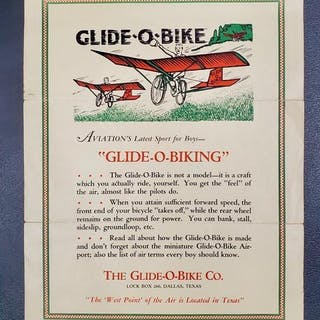 "Aviation's Latest Sport for Boys-""Glide-O-Biking."" (GLIDE-O-BIKE)"