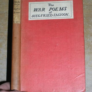 The War Poems Of Siegfried Sassoon   Antique & Collectable,Poetry