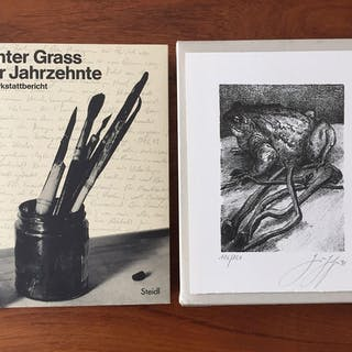 Vier Jahrzehnte. Ein Werkstattbericht. Vorzugsausgabe. Grass, Günter Graphik