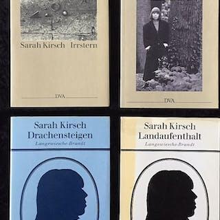 4 signierte Erstausgaben. Kirsch, Sarah Widmungsexemplare und signierte Bücher