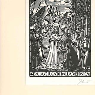 GESU ASCIUGATO DALLA VERONICA Zetti, Italo Bookplates