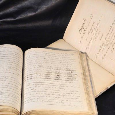 Manuscrits autographes en partie inédits de Louis BONDU «...