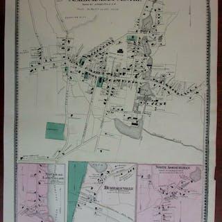 Ashburnham Centre Burrageville Naukeag 1870 Worcester Co. Mass. detailed map