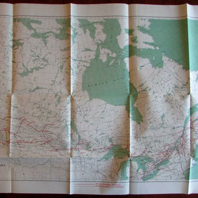 Canada 1918 Geodetic Survey Map   Canada & Greenland