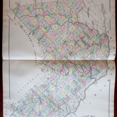 Aroostook County Maine border Canada 1888 Colby large