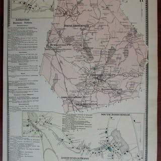 Ashburnham Depot South Blackburn V 1870 Worcester Co. Massachusetts detailed map