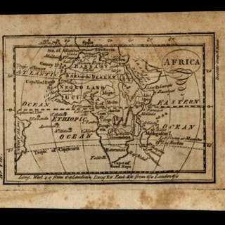 Africa continent 1796 Amos Doolittle scarce American engraved map   Other