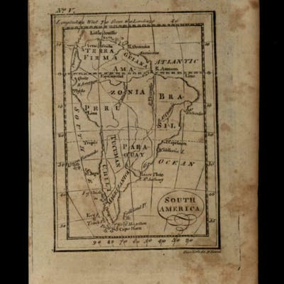 South America continent 1796 Amos Doolittle scarce...