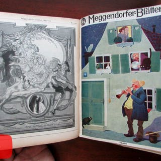 German Jugenstil Art Nouveau graphic arts 1913 Meggendorfer Blatter 13 issues