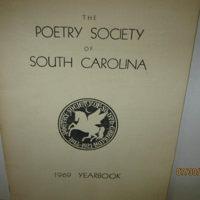 The Poetry Society Of South Carolina 1969 Yearbook   Poetry,poetry/spirituality