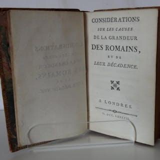 CONSIDERATION SUR LES CAUSES DE LA GRANDEUR DES ROMAINS