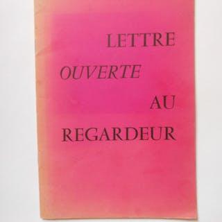 Lettre ouverte au regardeur LEBEL Jean-Jacques