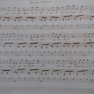 Recueil Partitions manuscrites 100 pièces Chant Piano...