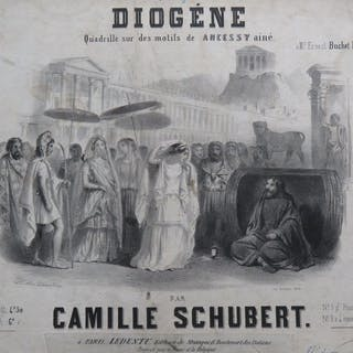 SCHUBERT Camille Diogène Quadrille Piano 4 mains ca1850...