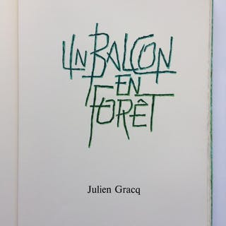 Un Blacon en Forêt GRACQ Julien Littérature,Livres Illustrés,Tirages de Tête
