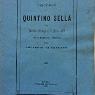 Discorso di Quintino Sella nel banchetto offertogli il 16...