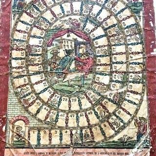 Giuoco dell'Oca dei primi anni dell?Ottocento. GIOCO DELL'OCA giochi