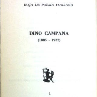 Dino Campana (1885-1932) Il Nuovo