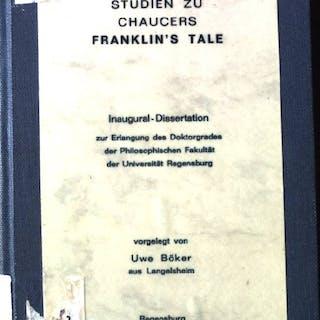 Studien zu Chaucers Franklin's Tale Dissertation Böker, Uwe: 5000 Philosophie