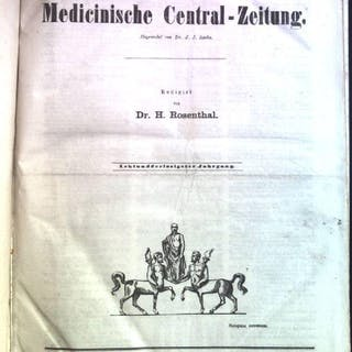 Allgemeine Medicinische Central-Zeitung 1869 Rosenthal