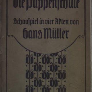 Die Puppenschule: Schauspiel in vier Akten (SIGNIERTES EXEMPLAR) Müller