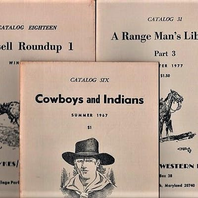 GROUP OF FOURTEEN (14) CATALOGS ISSUED BY JEFF DYKES / WESTERN BOOKS