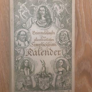 Grimmelshausen Des abenteuerlichen Simplicisimi Kalender GRIMMELSHAUSEN